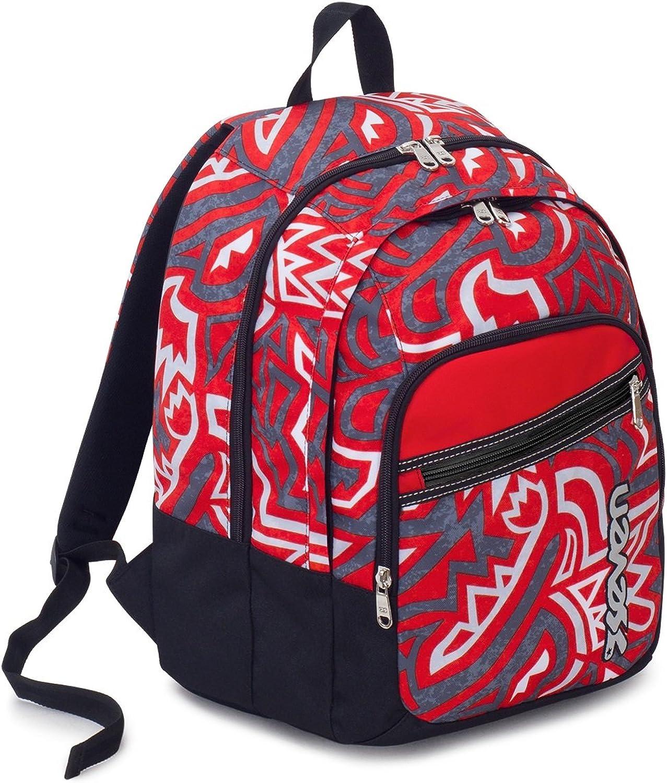 Rucksack Scuola Fit Seven , Maori , Rot Rot Rot , 28 Lt , Doppelfach , Grund- Und Mittelschule B07D4PYC7P | Online Outlet Store  3c2596