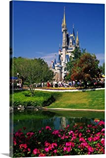 Florida, Orlando, Disney World, Magic Kingdom, Cinderella Castle Canvas Wall Art Print, 20