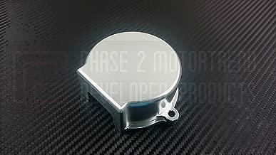 P2M Nissan SR20DET Billet Aluminum Crank Angle Sensor Cover Silver P2-CASNSR20S-GD