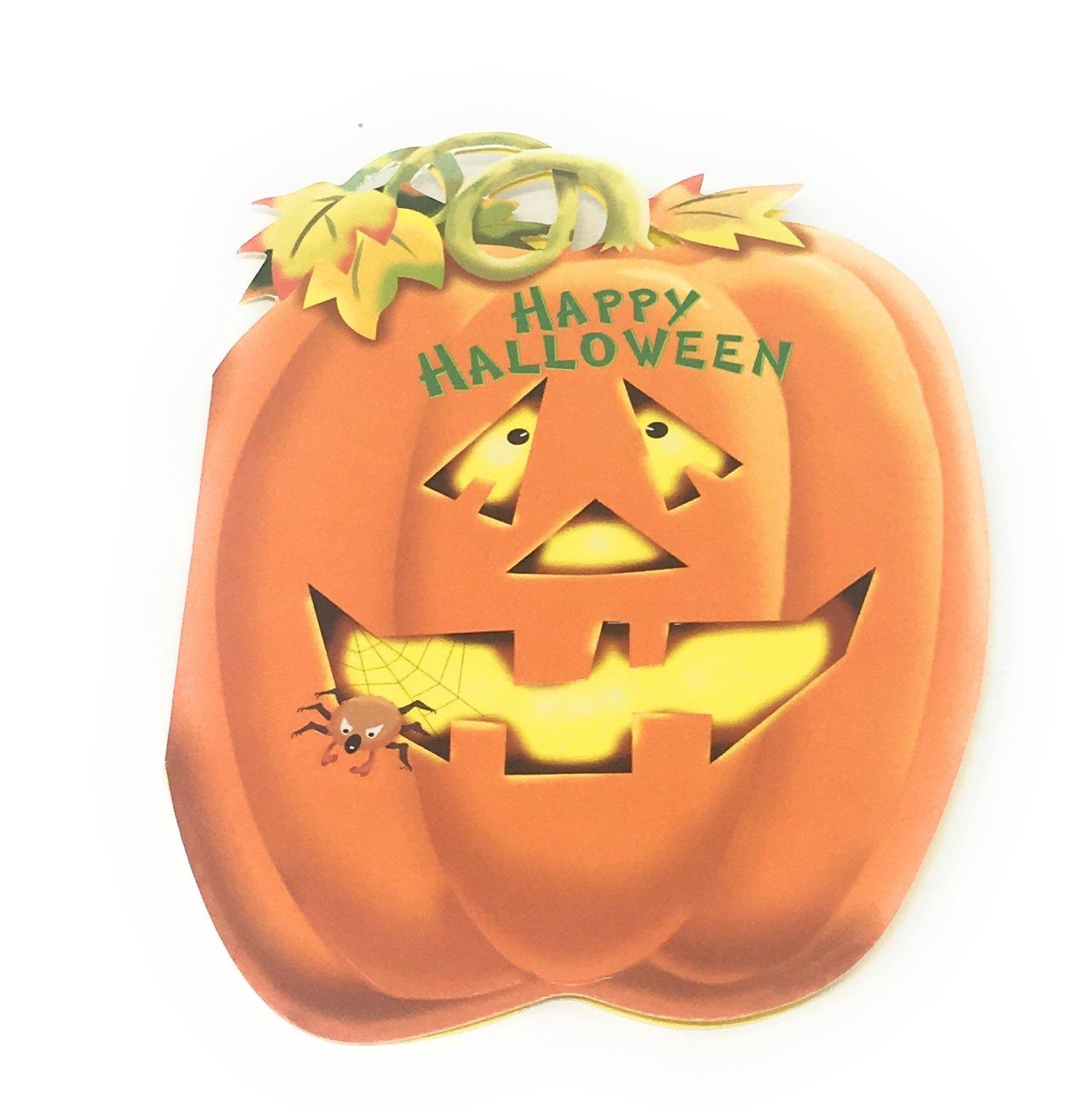 Happy Halloween tarjetas de felicitación (Pack de 8) para niños, adolescentes y adultos: Amazon.es: Oficina y papelería