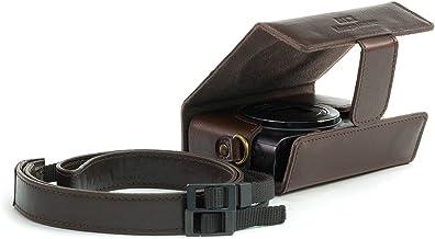 MegaGear Estuche Ever Ready, Funda de Pronto Uso de Cuero, con Correa Compatible con Canon PowerShot SX620 HS