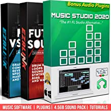 Beat Making Music Software Pro Pack – Best Music Production DAW + 5Gb of Sounds..
