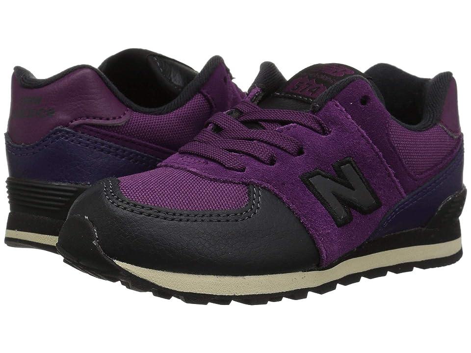 New Balance Kids IC574v1 (Infant/Toddler) (Claret/Black Violet) Girls Shoes