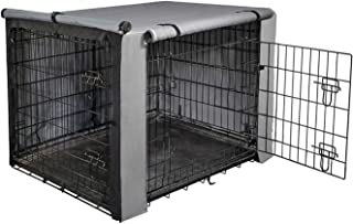 """yotache Dog Crate Cover for 30"""" Medium Double Door Wire Dog Cage, Lightweight 600D Polyester Indoor/Outdoor Durable Waterp..."""