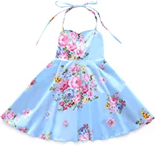 Flofallzique Vintage Floral Girls Dress for 1-12 Years Old Party Toddler Sundress