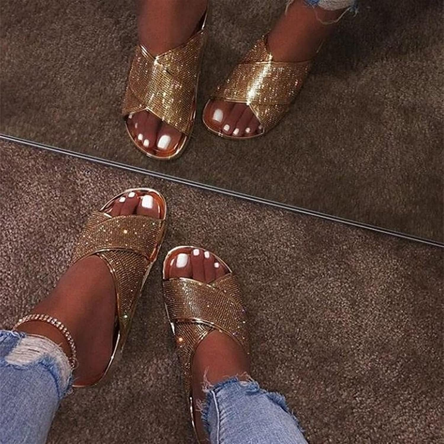 Ladies Slippers Women's Shoes Large Flat Size Price Explosion La Houston Mall Popular overseas