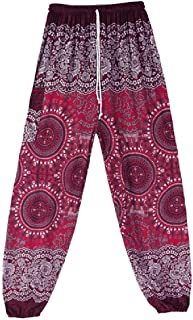 DressU Women's Yoga Cozy Ethnic Relaxed African Style Slim Pencil Trousers