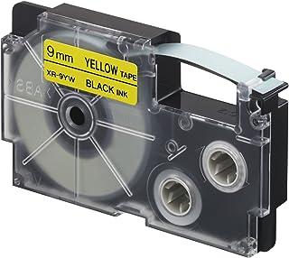 CASIO XR-9YW1 Nastro nero su giallo, 1 rotolo (9 mm x 5 m)