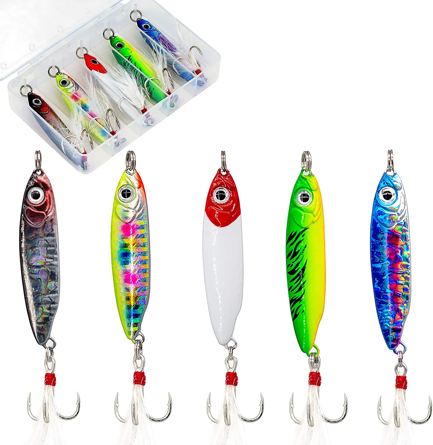 Max 66% OFF 5PCS Jigs Fishing Lures Dallas Mall Saltwater Lure Surf for