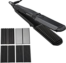 Hair Straightener, Professional 4-in-1 Multi Styler With Flat Iron Anti-Static Ceramic Technology 100-240V for Worldwide Use