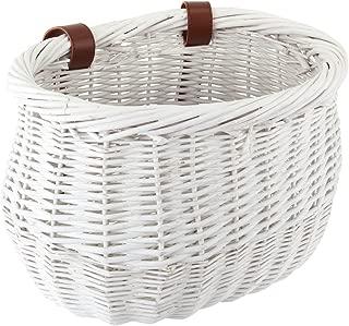 Sunlite Willow Bushel Strap-On Basket, 13 x 8 x 9, White
