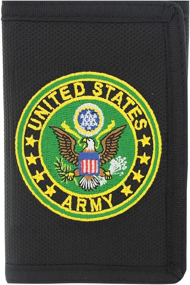 Nylon Wallet with Army Symbol Patch