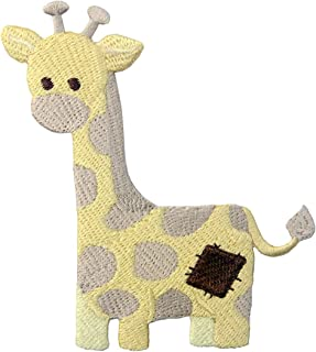 Giraffe Patch Embroidered Applique Iron On Sew On Emblem