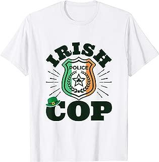 Irish Cop - Flag Badge - Irish Police Officer T-Shirt