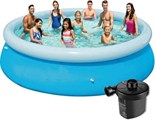 10 Above Ground Swimming Pool with Filter Pump for Easy Installation mkkk Outdoor Large Childrens Swimming Pool 15ft x 36in