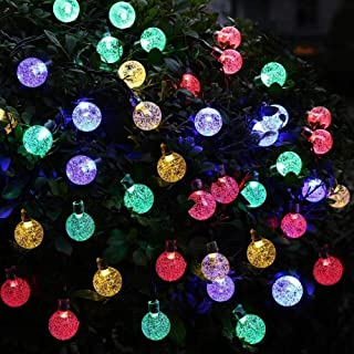Led String Solar Lights 40 LED Ball String Lights, Fairy String Lights Plug in, 8 Modes with Remote, Decor for Indoor Outd...
