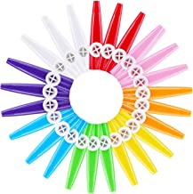 Adanse 24 piezas de plástico kazoos 8 coloridos kazoo instrumento musical, buen compañero para guitarra, ukelele, violín, piano teclado, Gro?es regalo para amantes de la música (24 unidades)