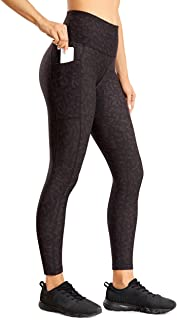CRZ YOGA Fleece Lined Leggings Women 7/8 High Waist Yoga Pants Winter Warm Workout Tight with Pockets -25 Inches