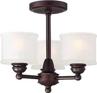 Minka Lavery Semi Flush Mount Ceiling Light 1730 Series 1738-167 3 Light 180 watt (13