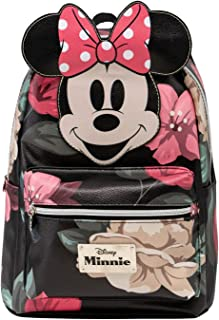 Minnie Mouse Bloom-Mochila Fashion, Negro