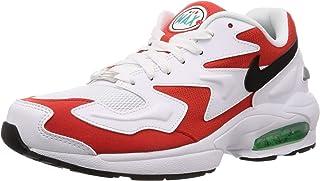 Nike Mens Air Max2 Light White/Black-Habenero Synthetic Size 8.5