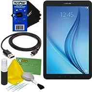 "Samsung Galaxy Tab E 9.6"" 16GB Wi-Fi Tablet (Black) SM-T560NZKUXAR + USB Cable + 5pc Deluxe..."
