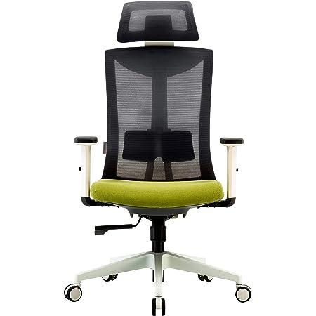 SIHOOメッシュ ハイバックサポートクッション 腰サポート 昇降アームレスト 調節可能ヘッドレスト 360度回転 オフィスチェア 静音キャスター ブラック (gray)