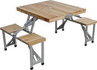 ピクニックテーブル 木製 レジャーテーブル おりたたみ アウトドアテーブル 90 折りたたみテーブル アウトドア バーベキューテーブル ピクニックテーブル バタフライ