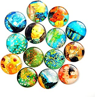 Fridge Magnets Crystal Glass Fridge Magnet Toshine 14 Pack Van Gogh Refrigerator Magnets Set Starry Night The Impressionistic Art of Vincent  Whiteboard Magnets Decorative Magnets Set 1.38 IN