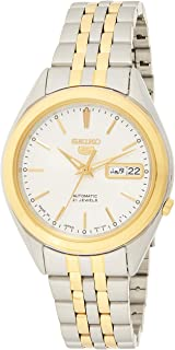 Seiko 5 Men's White Dial Stainless Steel Automatic Watch - SNKL24J1