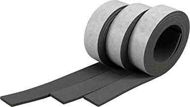 XCEL - Pure EPDM Weather Stripping Foam Rubber Tape with Adhesive, Weather Resistant, Water Resistant, 3 Strips totaling 52