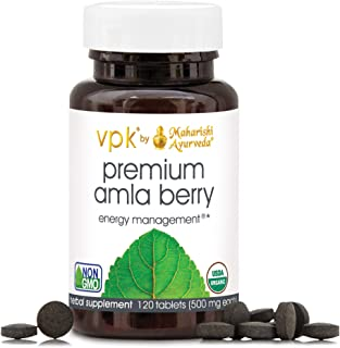 Organic Premium Amla Berry | 120 Herbal Tablets - 500 mg ea. | Powerful Antioxidant for Vitality | Supports Digestion, Eye...