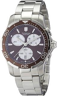 Victorinox - Swiss Army - Reloj cronógrafo de Cuarzo para Mujer con Correa de Acero Inoxidable, Color Plateado