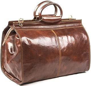 italian leather overnight bag