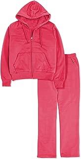Women 2 Piece Tracksuit Set Sherpa Lined Fleece Outfit Hoodie & Sweatpants Jogger Sets