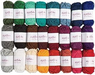 Knit Picks Brava Mini Pack Worsted Premium Acrylic Yarn - 24 Pack (10g Minis, Jewel)