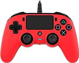 وحدة تحكم سلكية صغيرة الحجم من ناكون (Playstation 4)، بلون احمر