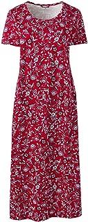 Lands' End Women's Plus Size Supima Cotton Short Sleeve Midcalf Nightgown - Print