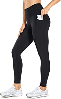 CRZ YOGA Women's Compression Leggings with Pockets Tummy Control Workout Leggings Hugged Feeling Tights - 25 inches