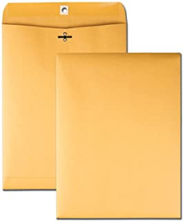 Quality Park 9 x 12 Clasp Envelopes with Deeply Gummed Flaps, Great for Filing, Storing or Mailing Documents, 28 lb Brown ...