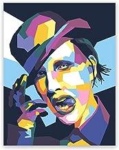 Marilyn Manson Poster – Pop Art Modern Portrait Print – Music Home Wall Decor (11x14)