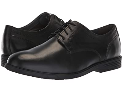 Hush Puppies Shepsky Plain Toe Oxford (Black Leather) Men