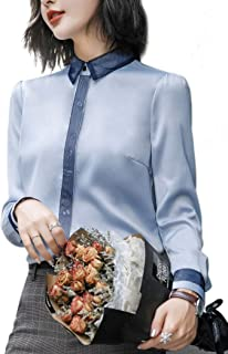 Women's Casual Chiffon Shirt with Sleeves Office Business Blouse