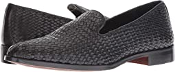 Black Woven Calf Leather