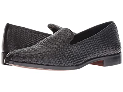 CARLOS by Carlos Santana Nomad Loafer (Black Woven Calf Leather) Men