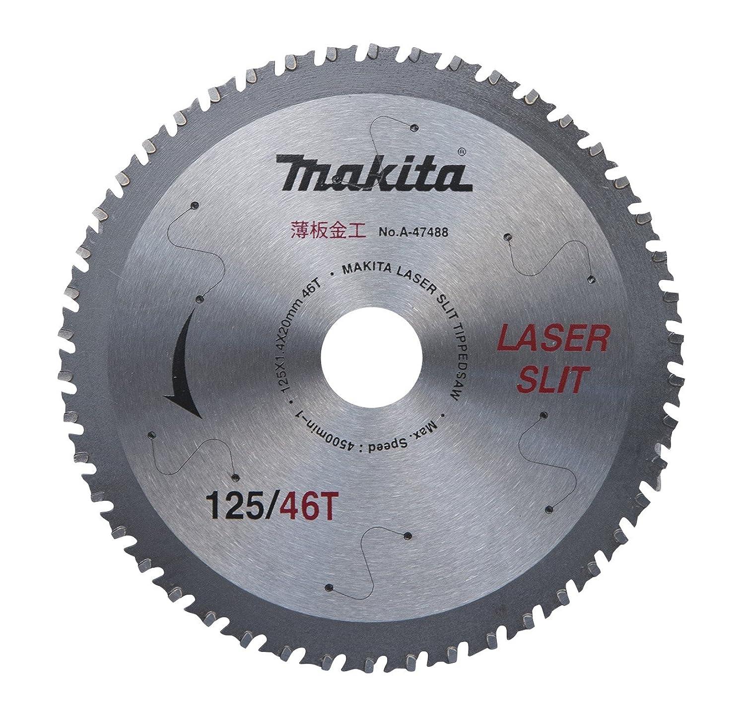 洗剤関与する大きいマキタ(Makita) 充電用薄板軟鋼材用チップソー125-46T A-47488