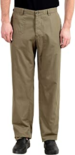 Gianfranco Ferre Men's Olive Green Casual Pants US 38 IT 54