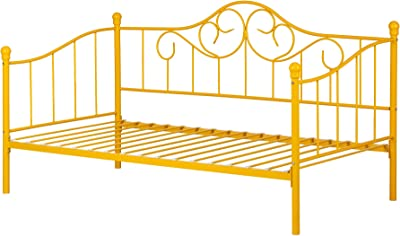 Balka Metal Daybed with Metal Slats--Yellow-South Shore