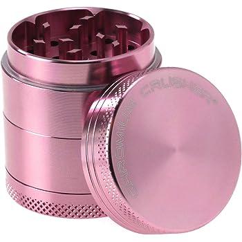 Chromium Crusher 1.6 Inch 4 Piece Tobacco Spice Herb Grinder - Pink
