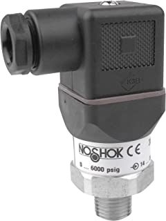 NOSHOK 300 Series Compact OEM Pressure Transducer, <= (VPower -10)/0.020 Amp, 8-30 VDC, 4-20 mA 2-Wire Output, 0-200 psig Pressure Range, +/-0.5% Accuracy, 1/4